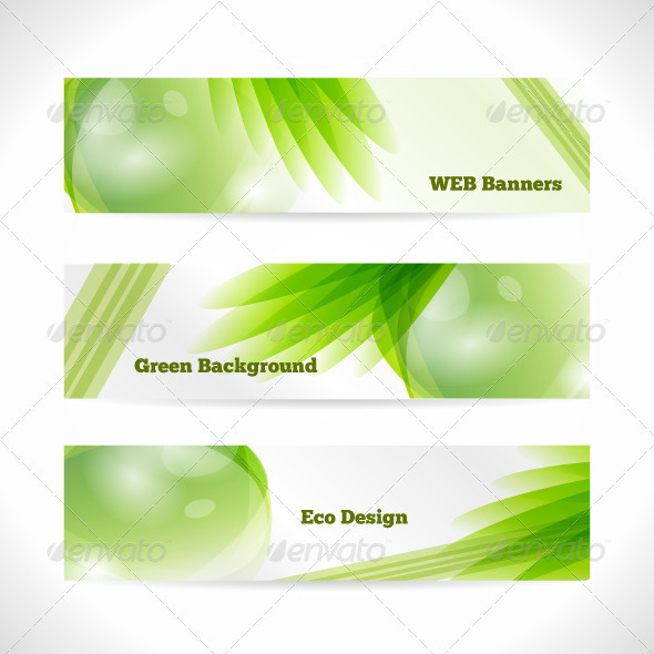 Vector Eco Banner - Backgrounds Decorative
