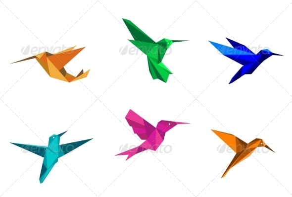 Origami Hummingbirds - Animals Characters