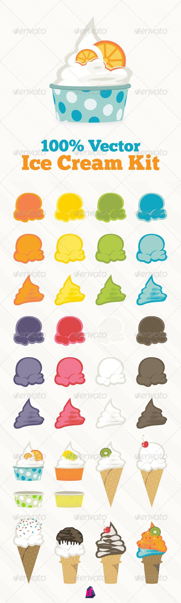 Ice Cream Kit - Food Objects