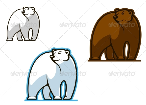 Polar and Brown Bear - Animals Characters