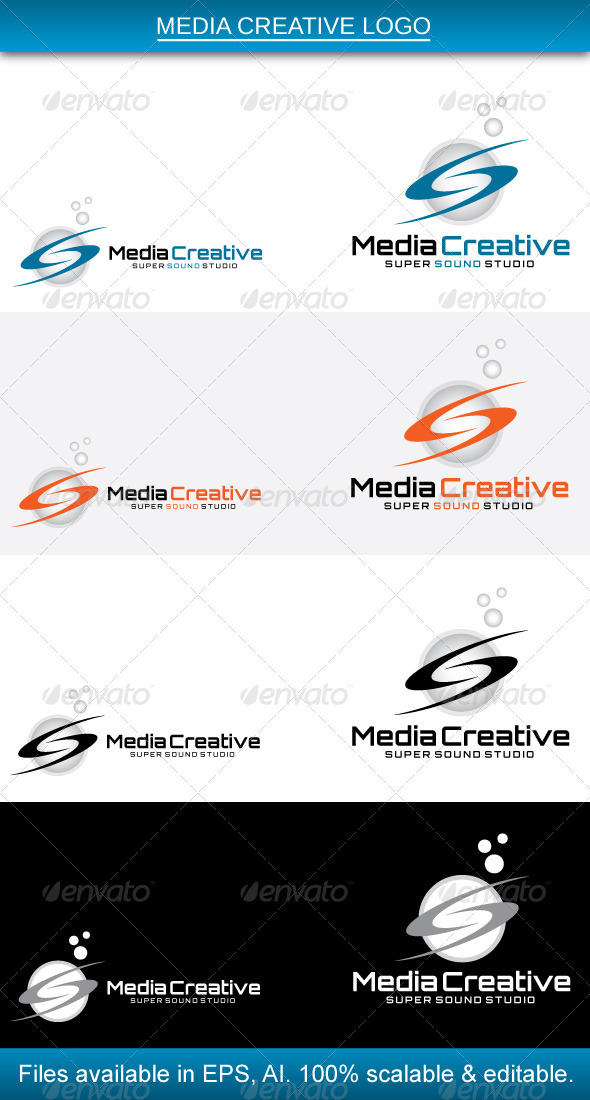 Media Creative Logo - Vector Abstract
