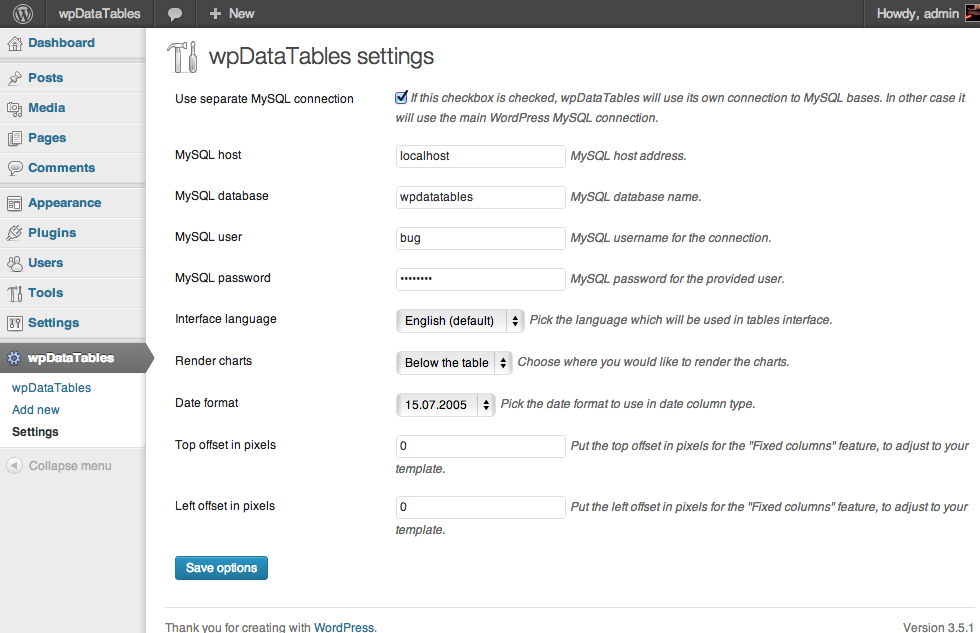 wpDataTables v3.3 + Nulled Addons