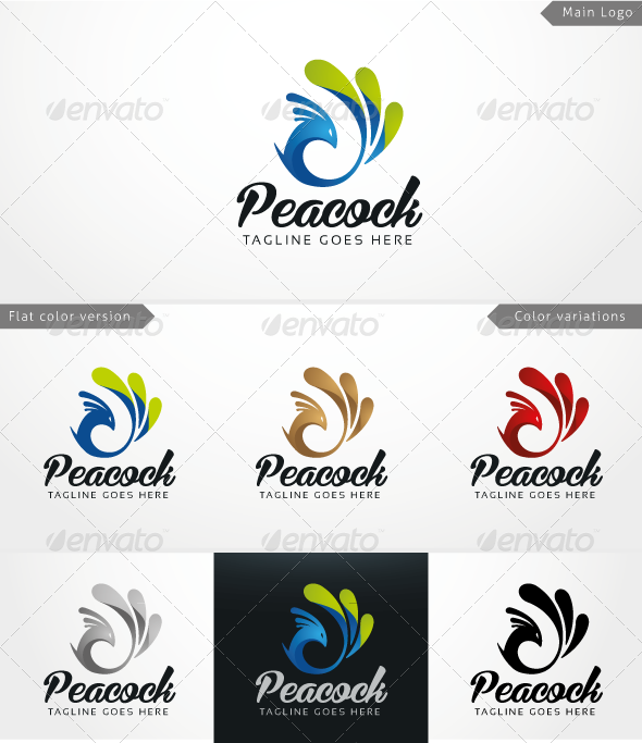 Peacock - Logo Template - Animals Logo Templates