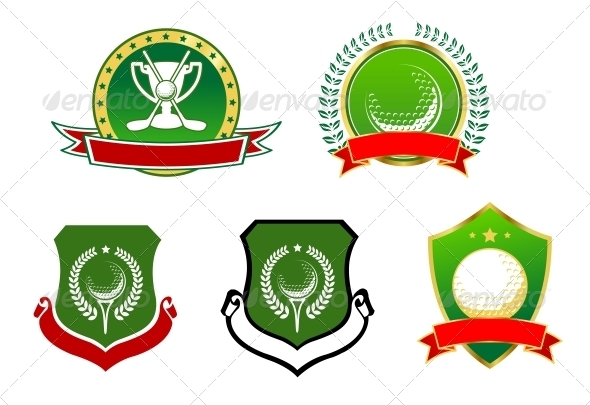 Golf Sport Icons, Emblems and Signs - Sports/Activity Conceptual