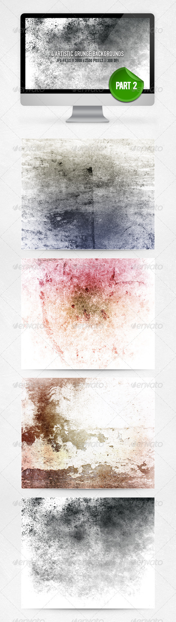 Artistic Grunge Backgrounds - Part 2 - Abstract Backgrounds