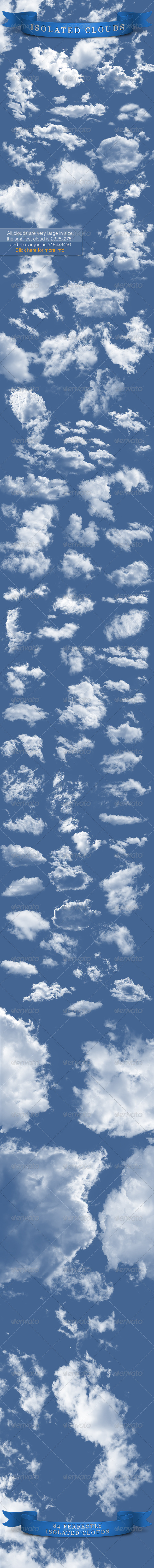 Isolated Clouds Bundle - Nature & Animals Isolated Objects