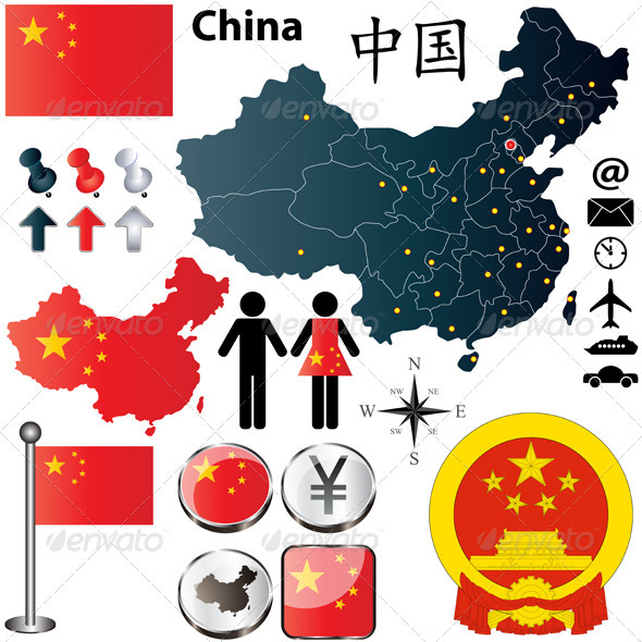 China Map - Travel Conceptual