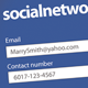 Social Network Business Card - GraphicRiver Item for Sale