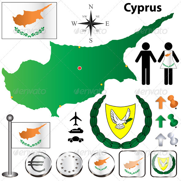 Cyprus Map - Travel Conceptual