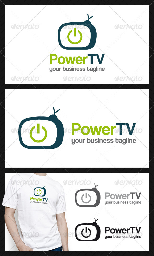 Power Tv Logo Template - Objects Logo Templates