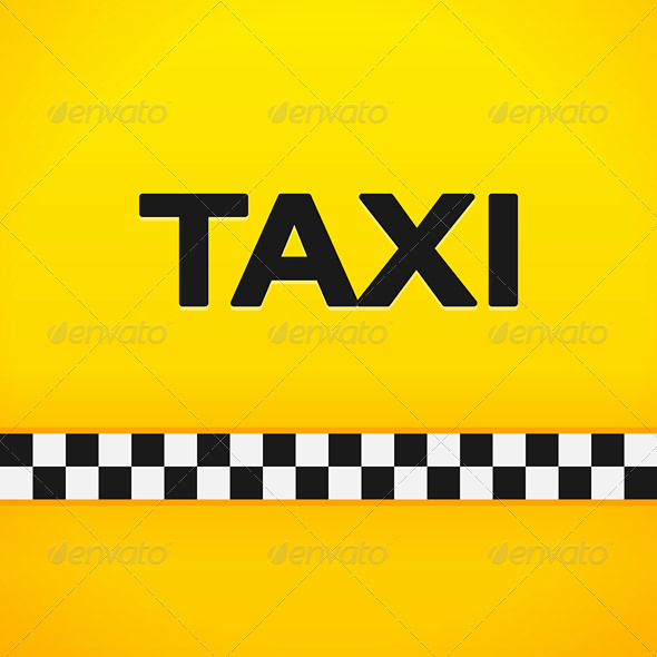 Taxi Word on Yellow Background - Backgrounds Decorative