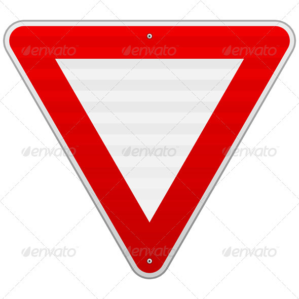 Yield Triangle Sign - Objects Vectors