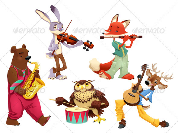 Musician Animals. - Animals Characters