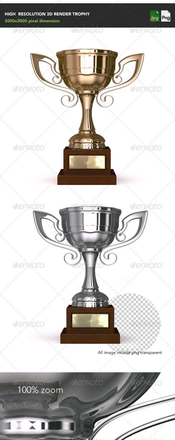Trophy - Objects 3D Renders