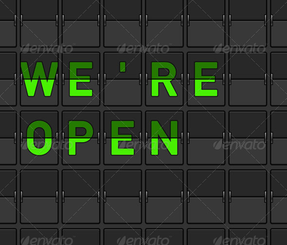 We Are Open Flip Board - Retail Commercial / Shopping