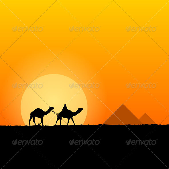 Hot African Scenery - Travel Conceptual