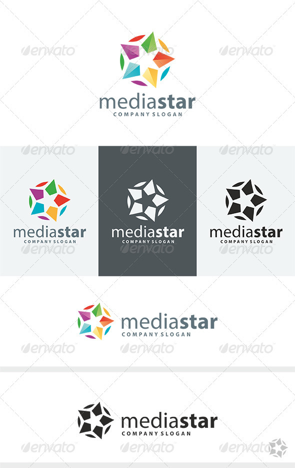 Media Star Logo - Vector Abstract