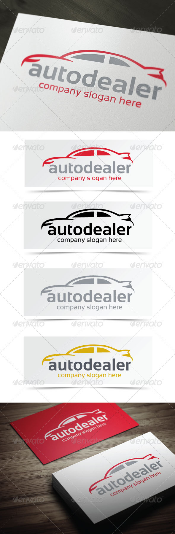 Auto Dealer - Objects Logo Templates