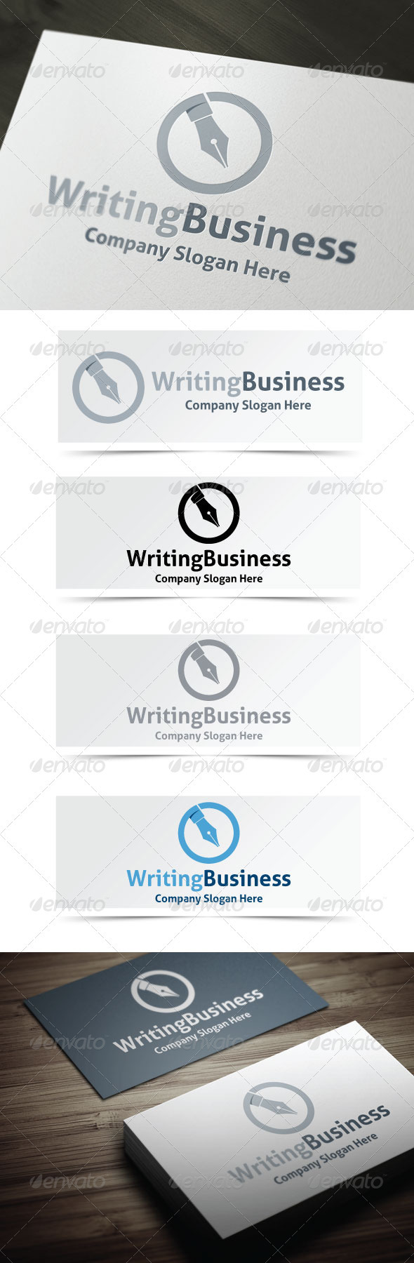 Writing Business - Objects Logo Templates
