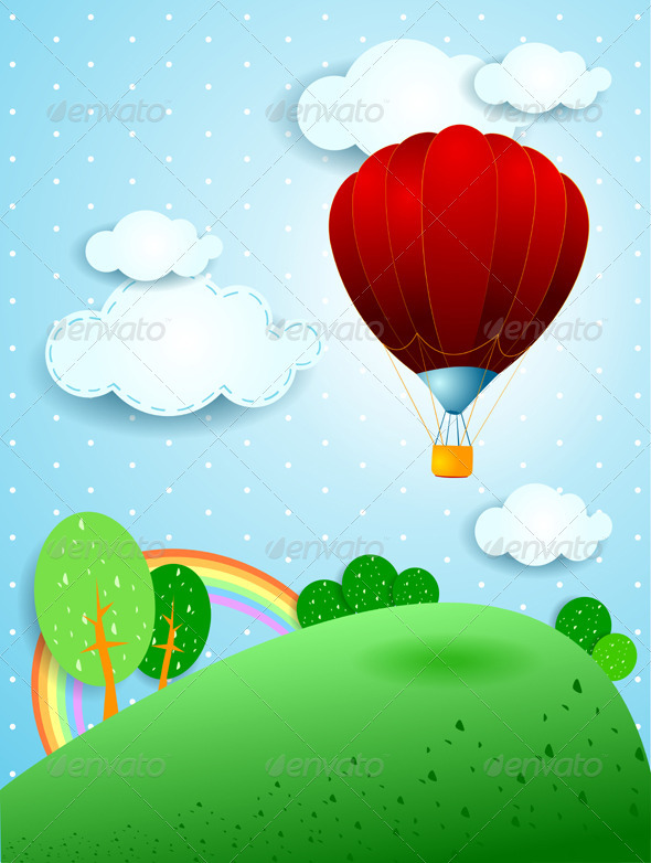 Hot Air Balloon - Vectors