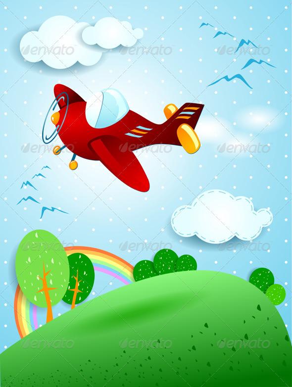 Red Plane - Vectors