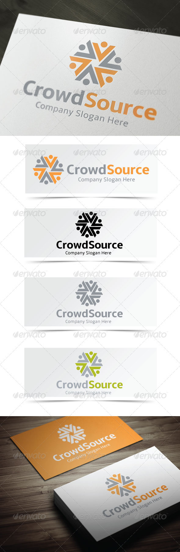 Crowd Source - Humans Logo Templates