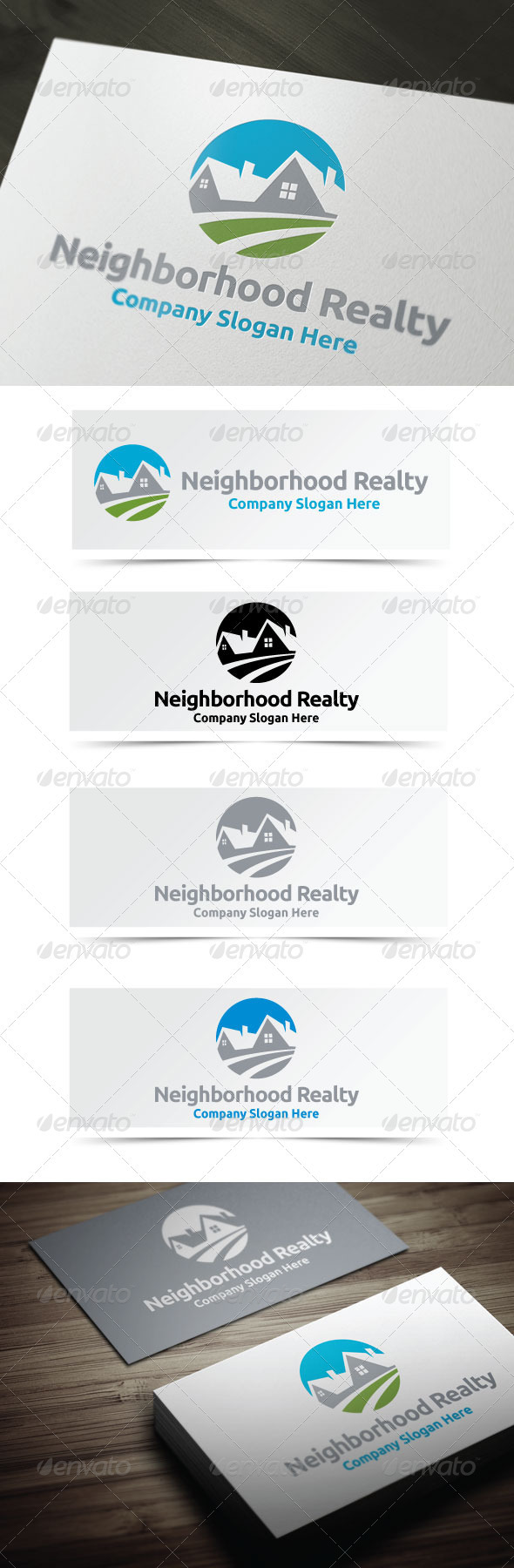 Neighborhood Realty - Buildings Logo Templates