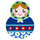 Colorful Wooden Traditional Russian Dolls - GraphicRiver Item for Sale