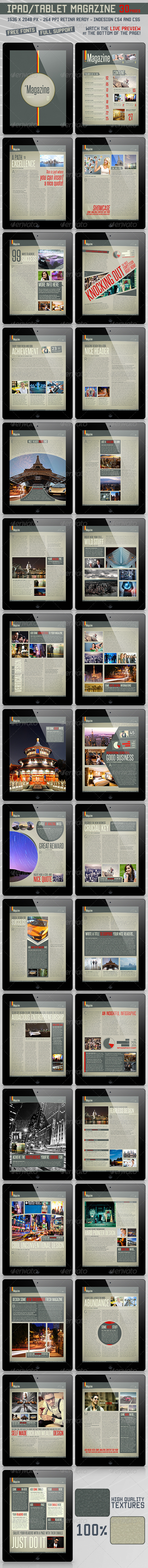 Pad/Tablet Retina Magazine 30 Pages - Magazines Print Templates