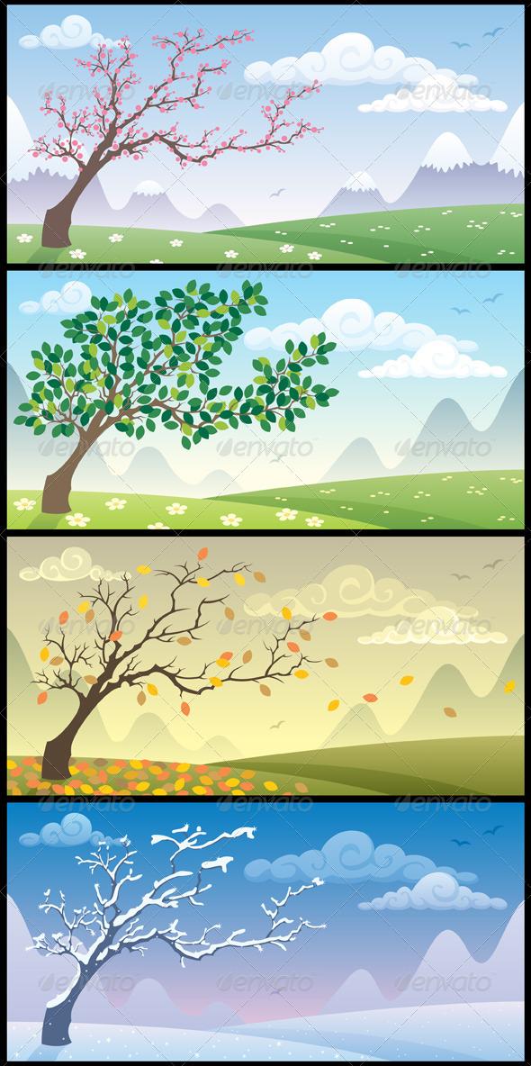 Seasons Landscapes - Seasons Nature