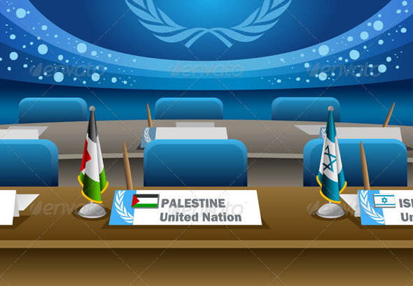 Palestine Candidate for the Seat on United Nation - Conceptual Vectors