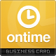 Ontime Business Card - GraphicRiver Item for Sale