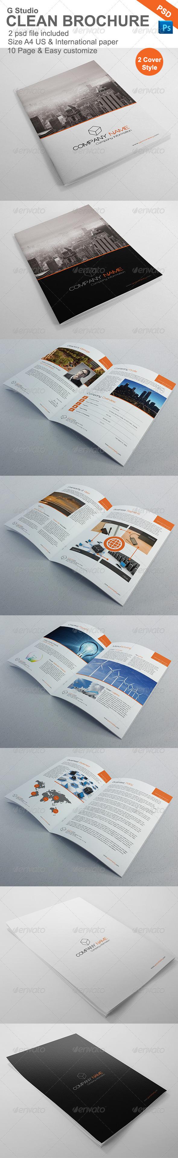 Gstudio Clean Brochure Template - Brochures Print Templates