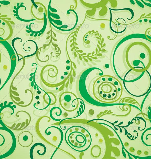 Seamless floral background - Patterns Decorative