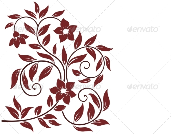 Decorative Floral Background - Flowers & Plants Nature