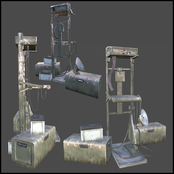 Communication Station Base - 3DOcean Item for Sale