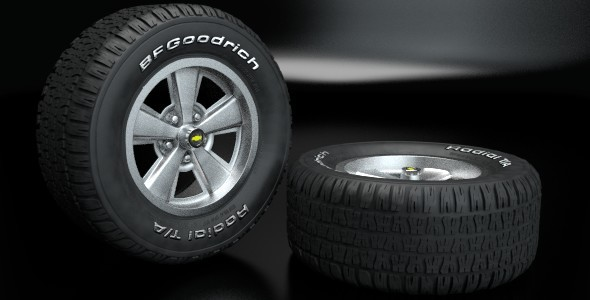 Bfgoodrich Radial T/A Wheel - 3DOcean Item for Sale
