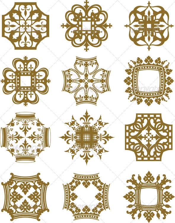 Crown Symbols - Decorative Symbols Decorative