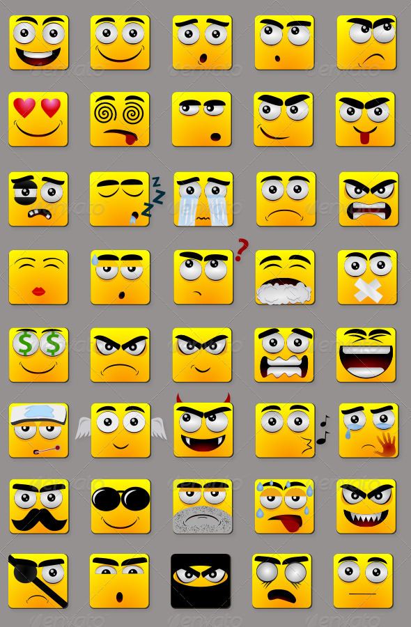 Square Emoticons - Miscellaneous Characters