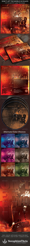 Don't Let the World Go Black CD Artwork Template - CD & DVD Artwork Print Templates