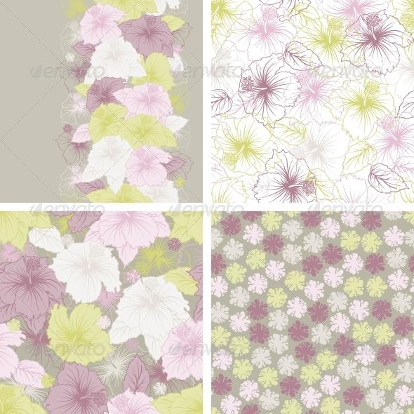 Elegance seamless pastel flower pattern. - Flowers & Plants Nature