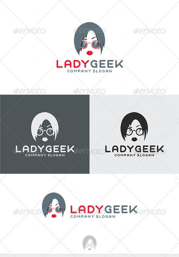 Lady Geek Logo - Humans Logo Templates
