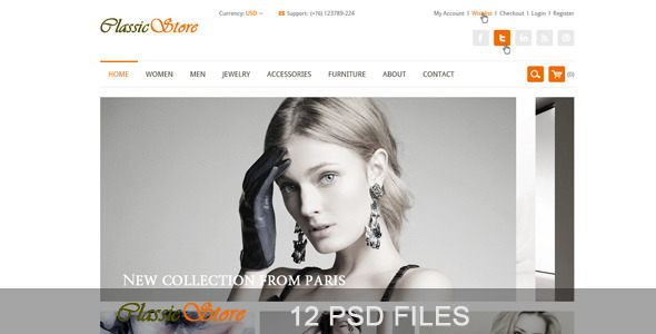 The Online Store - PSD Templates