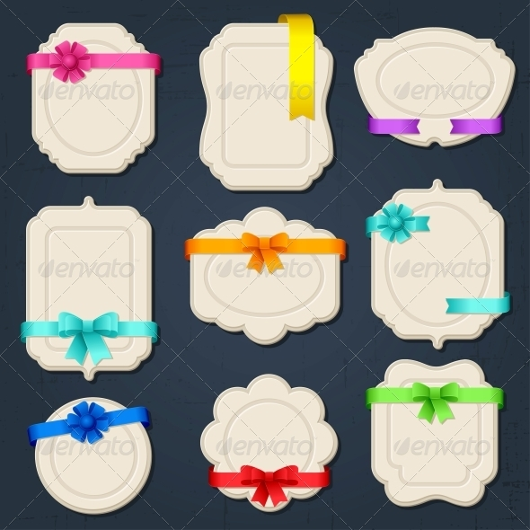 Collection of badges, labels, tags. - Backgrounds Decorative