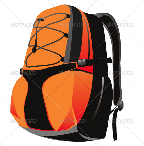 Vector Sport Backpack Mountain - Man-made Objects Objects