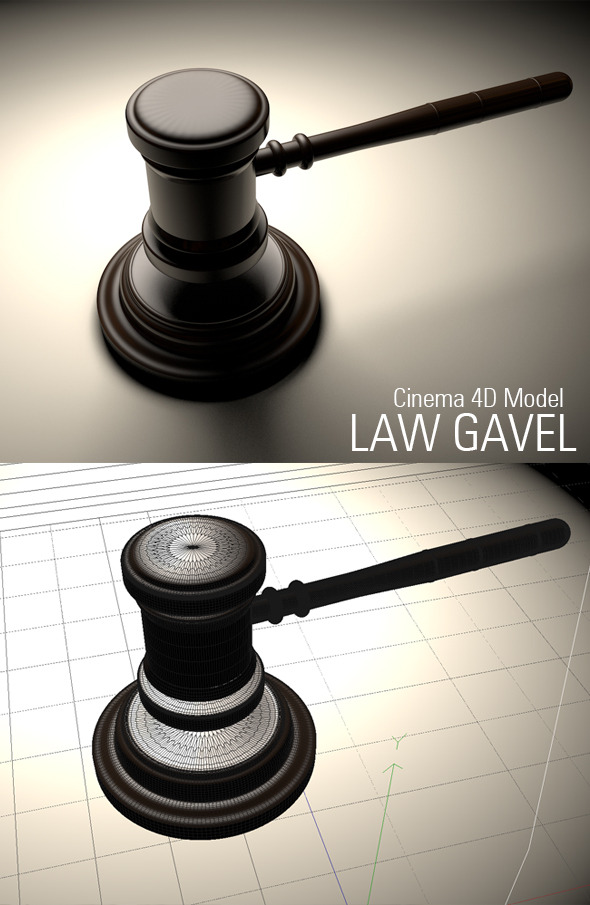 Law Gavel Model - 3DOcean Item for Sale