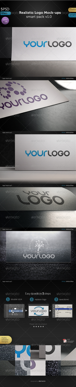 Realistic Logo Mock-ups   - Logo Product Mock-Ups