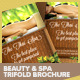 Beauty & Spa Trifold Brochure PSD Template - GraphicRiver Item for Sale