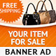 Online Shopping PSD Banner Ad Template - GraphicRiver Item for Sale