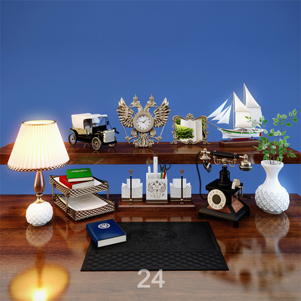 Desktop Accessories - 3DOcean Item for Sale